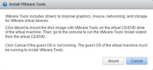 vm install vmware tools mount