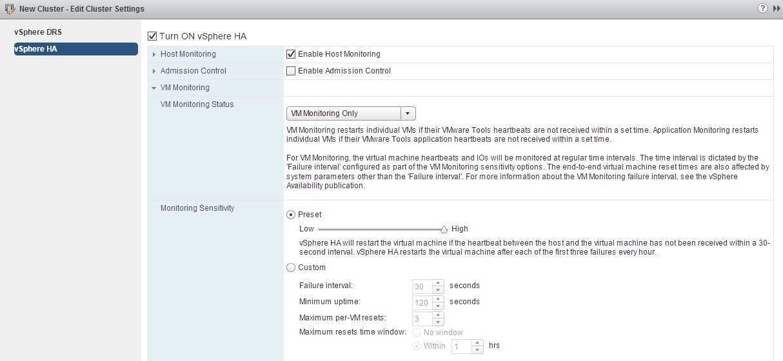 VM Monitoring explained   VMware ESXi