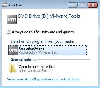 vmware tools autoplay