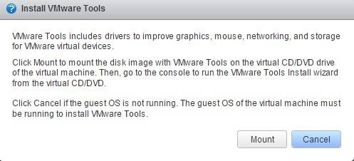 vmware tools install mount
