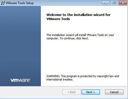 vmware tools installation windows