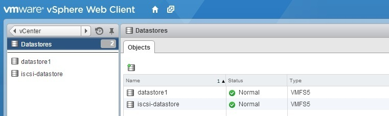 vsphere datastores