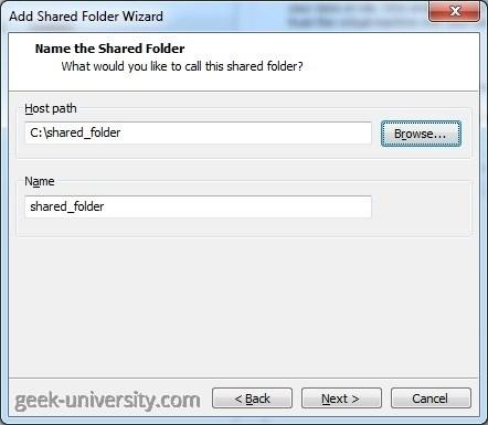 add shared folder path