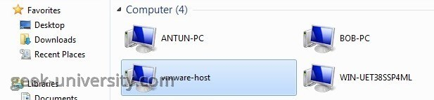add shared folder vmware host
