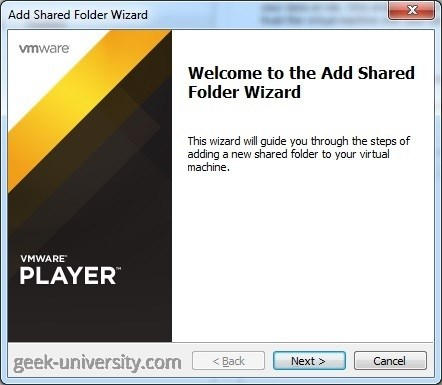 add shared folder wizard