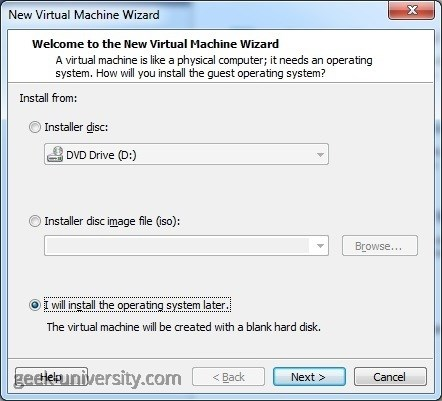 create new virtual machine source