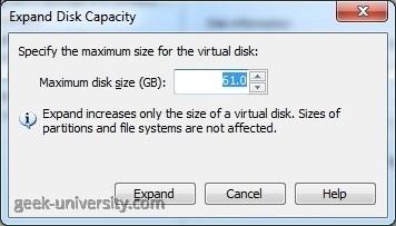 expand virtual hard disk