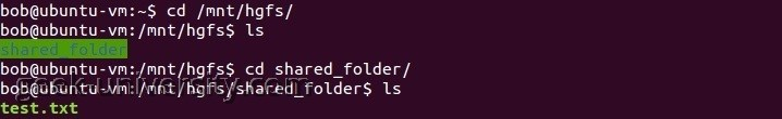 shared folder linux