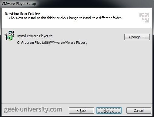 vmware player folder