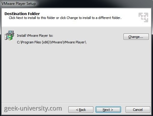 vmware player folder