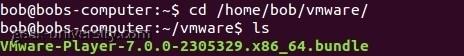 vmware player installation linux