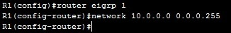 network command wildcard mask