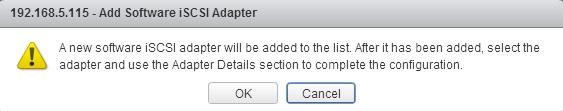 add new storage adapter dialog