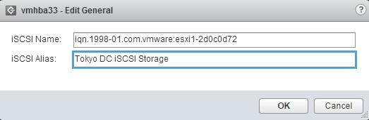 edit iscsi software adapter alias