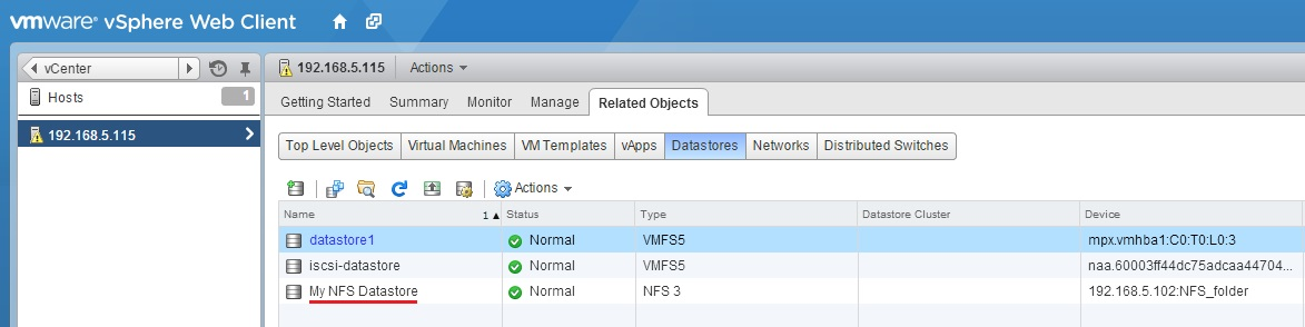 NFS (Network File System) overview | VMware ESXi
