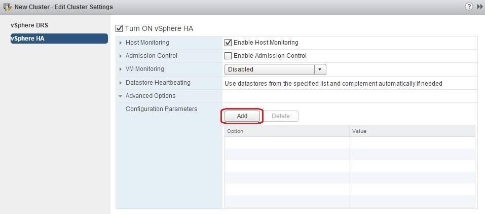 add configuration parameter ha