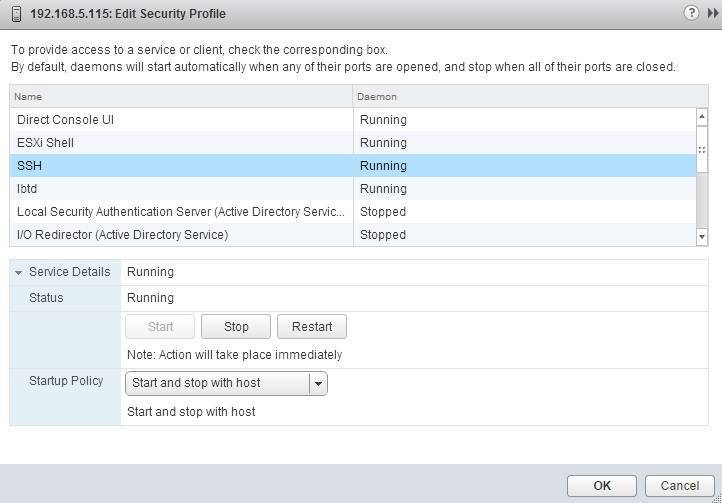 edit ssh service