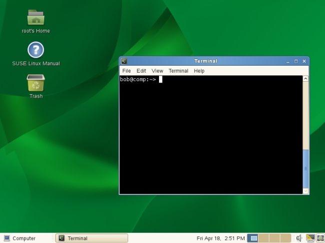 example linux desktop