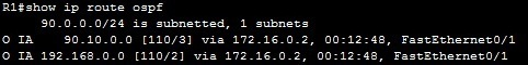show ip route ospf 1