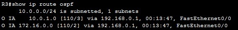 show ip route ospf 2