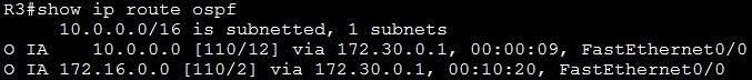 show ip route ospf summarization