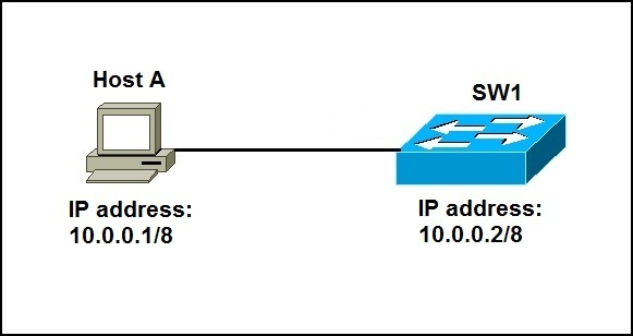 configure ip address switch topology