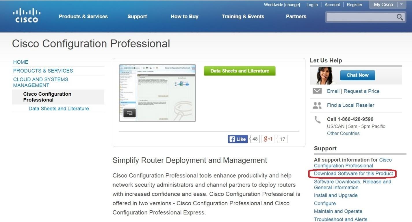 download cisco configuration professional