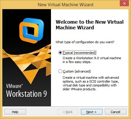 virtual machine configuration type