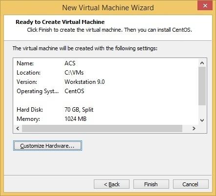 virtual machine finish