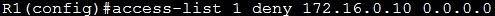 configure standard acl 2