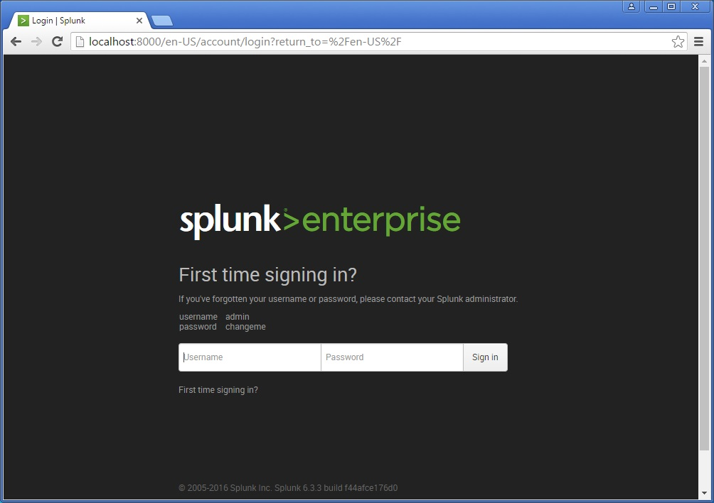Access Splunk web interface | Splunk