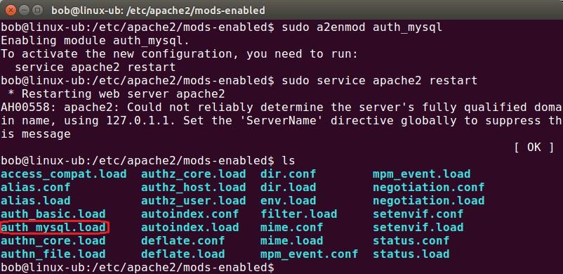 apache enable module