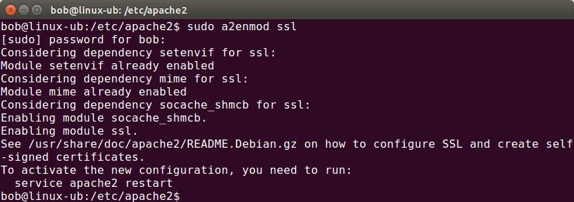 apache enable ssl module