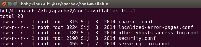 conf available directory