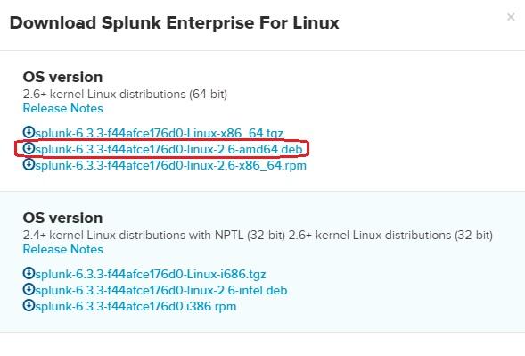 download splunk linux version