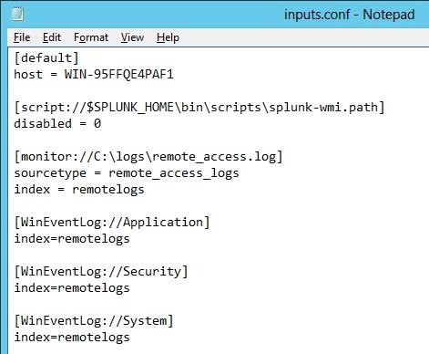 Monitor remote Windows event logs | Splunk