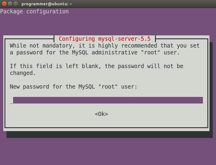 mysql linux installation root