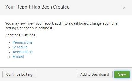 report additional settings