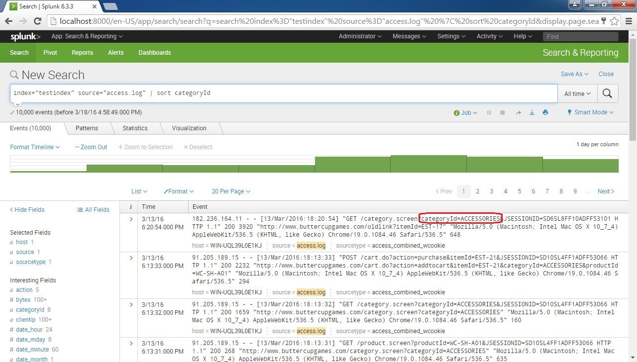 sort command example