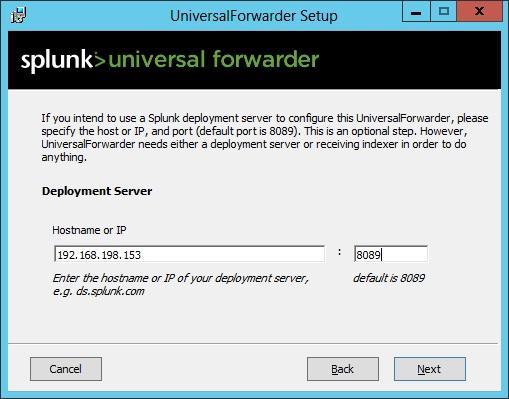 splunk forwarder deployment server