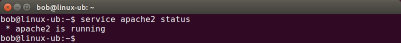 ubuntu apache status
